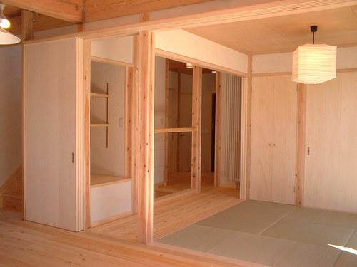 和室と中廊下