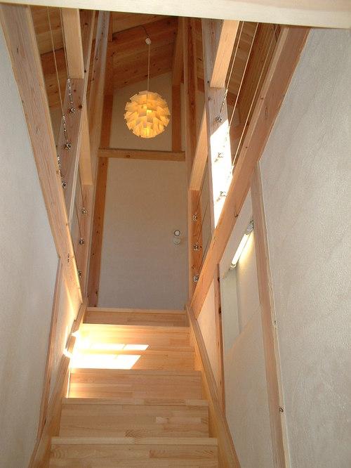 階段を見上げて
