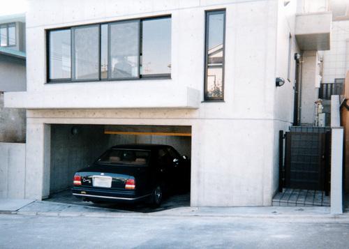 車庫と2階リビング